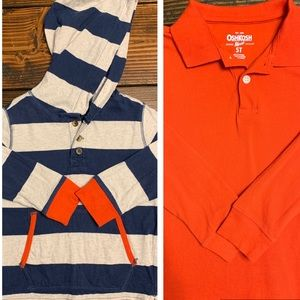 Boys long sleeve shirts. Gap and Osh Kosh. Sz 4/5